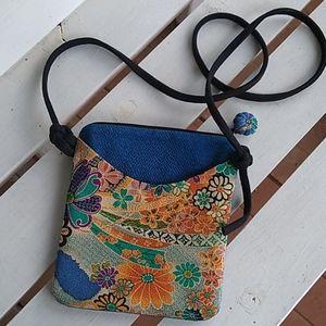 Kimono Boho Cross Body Mini Purse. Multi Color